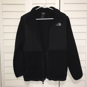 THE NORTH FACE ALL BLACK COAT GIRLS SIZE XL